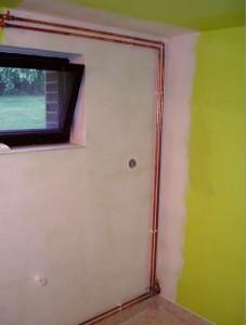 Mit Aero-Therm verputzte Hauswand